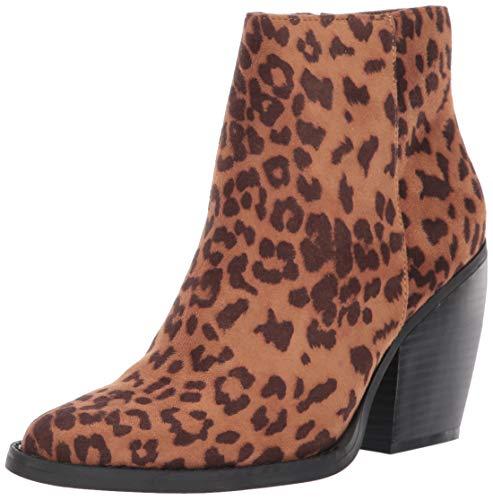 Madden Girl Klicck, Botas Cortas al Tobillo para Mujer, Estampado Leopardo, 36.5 EU