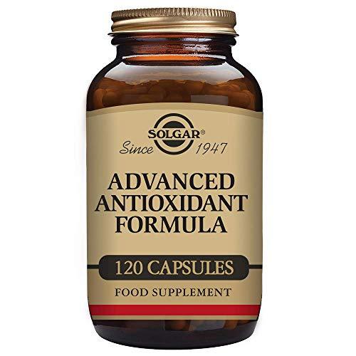 Solgar Fórmula Antioxidante Avanzada, Protege a las Células Contra el Daño Oxidativo Diario, 120 cápsulas Vegetales