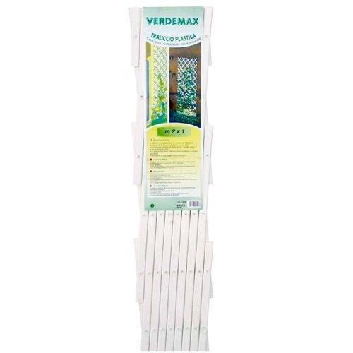 Verdemax 75492x PVC 1m erweiterbar Spalier, weiß