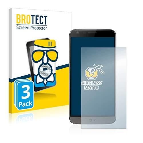 BROTECT Protector Pantalla Cristal Mate Compatible con LG G5 Protector Pantalla Anti-Reflejos Vidrio, AirGlass (3 Unidades)