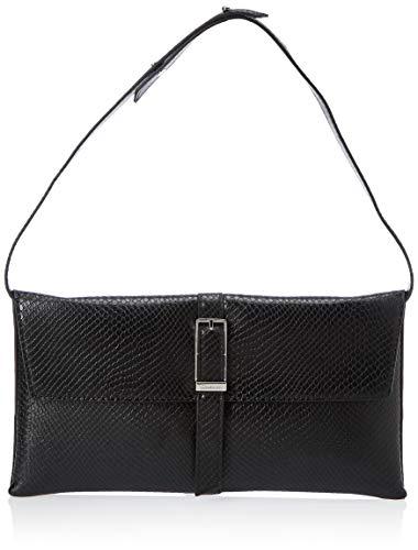 Calvin Klein Damen Winged Shoulder Bag Umhängetasche, Schwarz (Black), 2.5x16.5x31 Centimeters