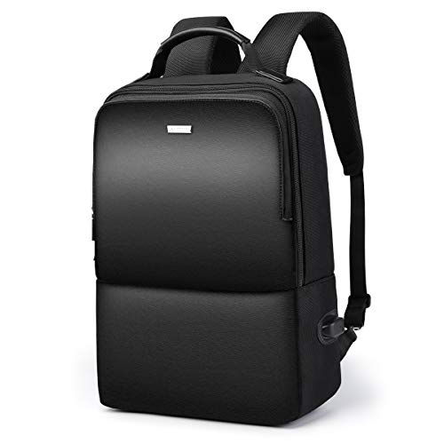 LAORENTOU Business Laptop Backpacks for Men 15 Inch Student Leather Travel Backpacks for Men Gift for Father Day