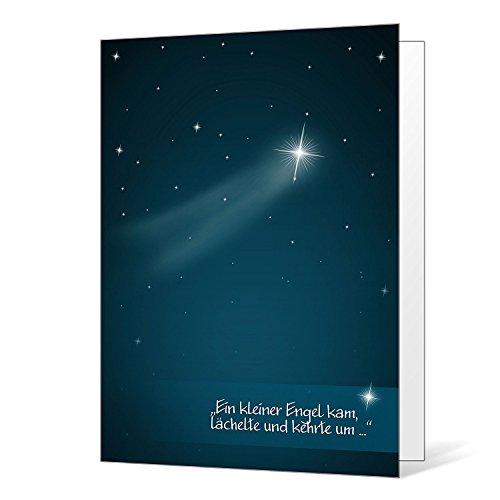 Kondolenzkarte Sternenkinder inkl. Umschlag - Beileidskarte
