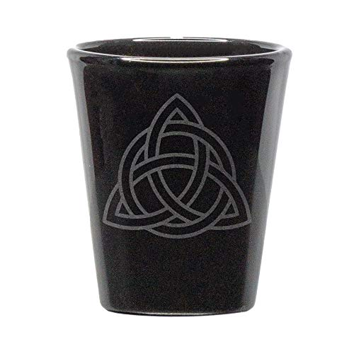 Celtic knot black shot glass - 1.75 ounce