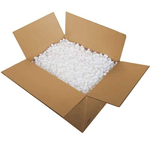 Verpackungschips Maisflips 100L Biologisch Abbaubar | Paket Füllmaterial Gegen Glasbruch | Chips Verpackung | Natürliche Bio Mais Flips | Im Karton | Kein Plastik oder Styropor | Rein natürlich