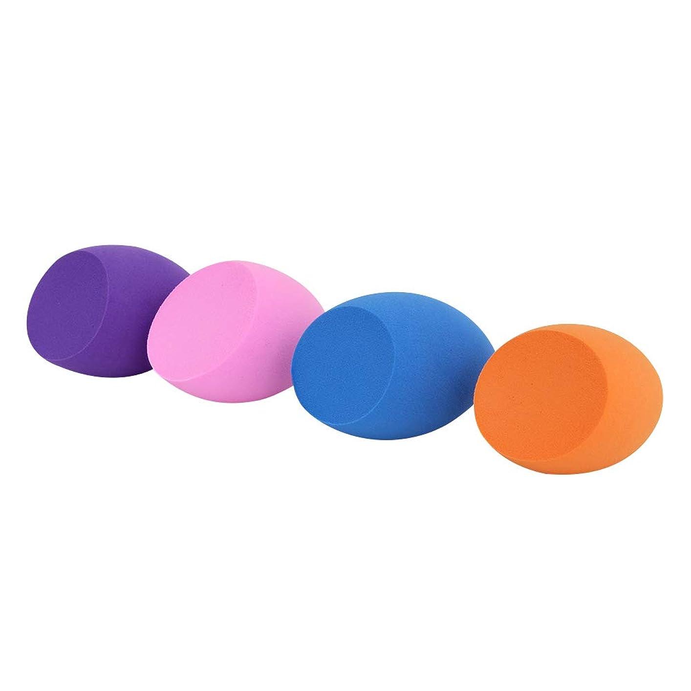 然とした剥離アルバムSUPER DREAM メイクスポンジ 4個セット 立体カット型 化粧 スポンジ 斜めカット 3Dスポンジ パフ フェイシャルスポンジ 親水性ポリウレタン メイクアップスポンジ 湿乾両用 ファンデーション 使い捨て 水洗い 何度も使える