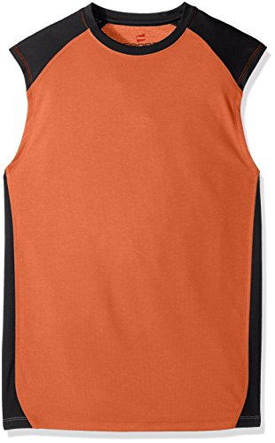 Hanes Men's Sport Performance Muscle Tee, Team Orange Heather/Stealth, X-Large