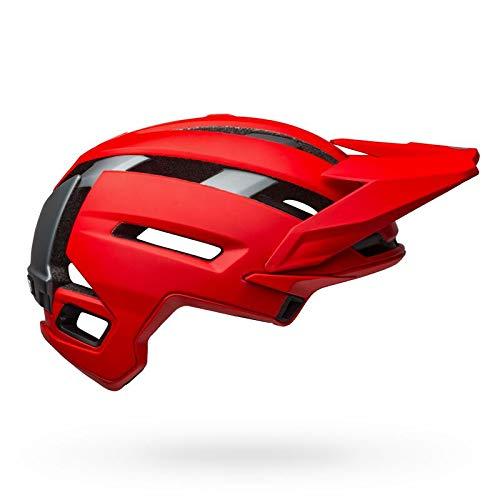 BELL Super Air MIPS Casco para Bicicleta de montaña, Hombre, Mate/Rojo Brillante/Gris,...