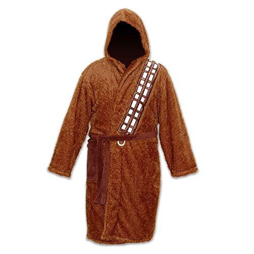 Groovy- Chewbacca-Bathrobe Albornoz, Color marrón/Beige, Talla única (E1024201)