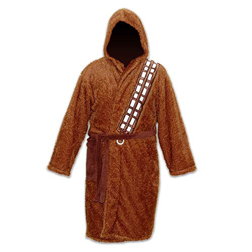 Groovy- Chewbacca-Bathrobe Albornoz, Color marrón/Beige, Talla única (E1024201)
