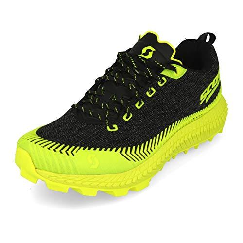 Scott M Supertrac Ultra RC Shoe Gelb-Schwarz, Herren Laufschuh, Größe EU 44.5 - Farbe Black - Yellow