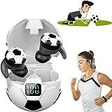 Football Style Wireless Sport Earbud,Auriculares Deportivos InaláMbricos De Estilo FúTbol,Cascos Bluetooth InaláMbrico con Compartimiento De Carga