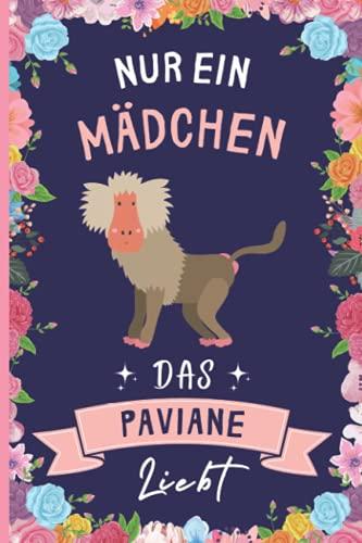 Nur Ein Mädchen Das Paviane Liebt: Notizbuch für Paviane Liebhaber | Paviane Tagebuch | 110 Seiten | 6 x 9 Zoll | Notizbuchgeschenk für Paviane liebhaber