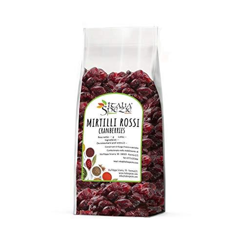Mirtilli rossi disidratati - Cranberry prima scelta 1 Kg - Mirtillo rosso essiccato - Frutta selezionata Italia Spezie