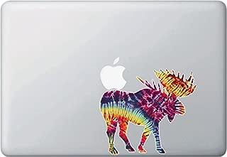 Yadda-Yadda Design Co. Rainbow Tie Dye Moose - Laptop | MacBook | Computer - Vinyl Decal Sticker YYDC (Size Variations Available) (Medium 5.5