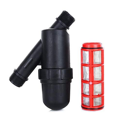 Herexty Filtro de riego de 3/4 pulgadas, filtro de malla para jardín, goteo, depósito de agua, bomba de ducha, filtro de agua caliente