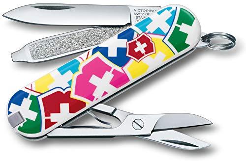 Victorinox Taschenmesser Classic SD (7 Funktionen, Klinge, Schere, Nagelfeile) VX colors