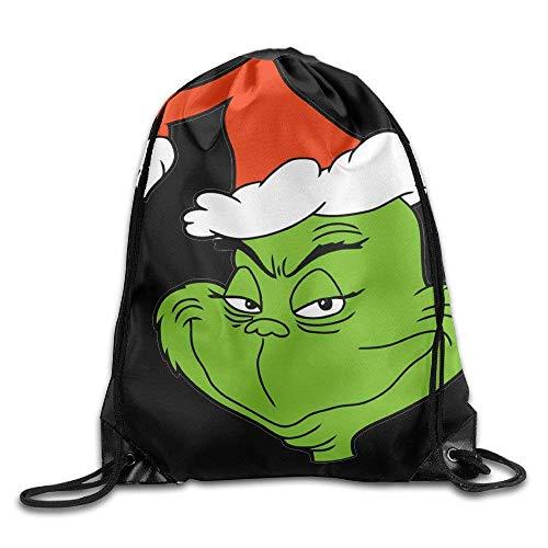 Etryrt Prämie Turnbeutel/Sportbeutel, Drawstring Backpack Sack Bag The Grinch Dr Seuss Santa Home Travel Sport Storage Hiking Running Bags