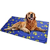 Pet cool mat, Non-toxic Dog self Cooling Gel Mat for Dog & Cat (Small,50x40cm), Puppy Self Cooling Pad