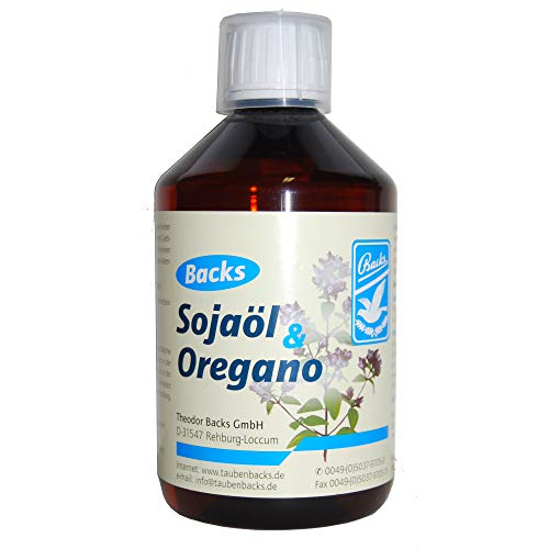 Backs Oregano Sojaöl 500 ml (reguliert den Stoffwechsel),