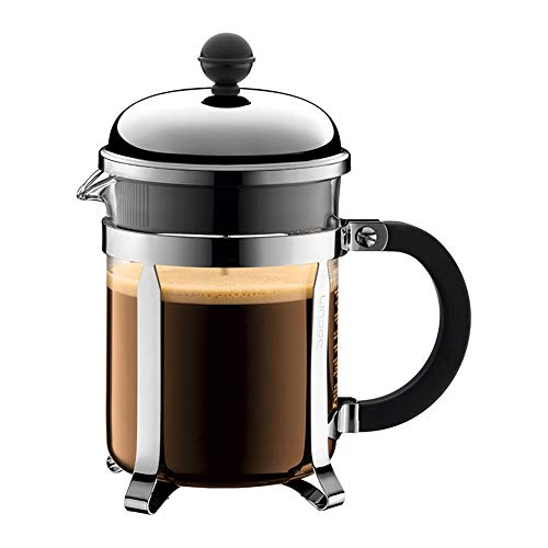 ZoSiP Caffettiere a Pistone French Press Filtro 500ml in Acciaio Inossidabile Stampa Francese Pot Mano Press Coffee Pot Resistente al Calore teiera Press (Color : Glass, Size : 500ml)