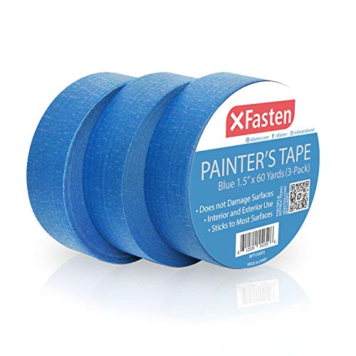 XFasten Professional Blue Painters Tape, Sharp Edge...