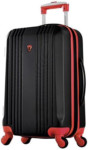 Olympia Apache Ii 21' Carry-on Spinner, BLACK+RED, One Size