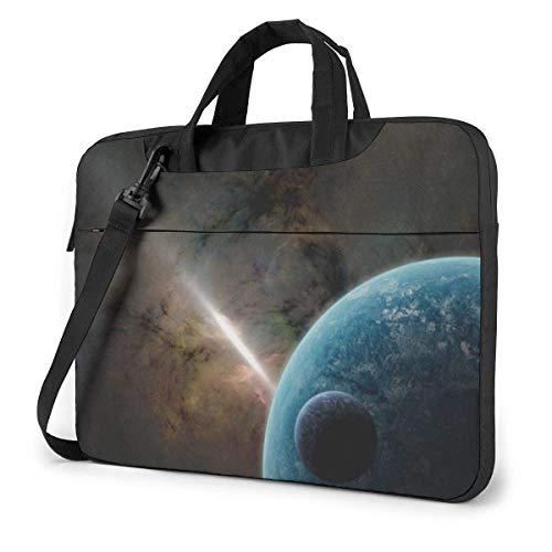 AOOEDM Estuche para computadora portátil Funda para bolsa de computadora, Espacio exterior, multifuncional, impermeable, para viaje, para tableta, hombro, maletín, bolso de transporte a prueba de go