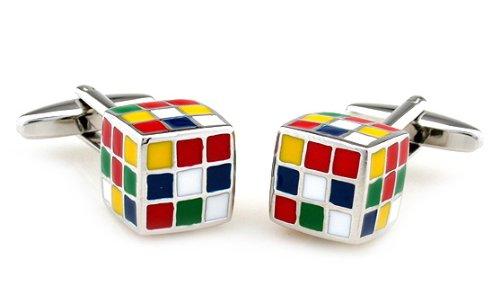 Gemelolandia | Gemelos Cubo Rubik 3D Gemelos Originales Para Camisas | Para Hombres y Niños | Regalos Para Bodas, Comuniones, Bautizos y Otros Eventos