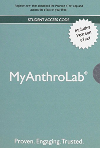 NEW MyLab Anthropology with Pearson eText -- Valuepack Access Card