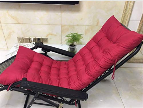 Marbeine – Cojín para silla de relax, tumbona de jardín, terraza, rojo intenso