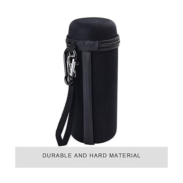 hard carrying travel case for jbl flip 4/ flip 5 3 splash proof bluetooth portable stereo speaker, fits usb cable(black)
