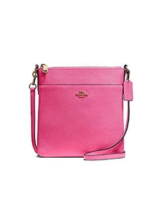 Coach Kitt Messenger Crossbody Zip Confetti Pink Hot Leather Handbag Bag NEW
