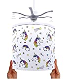 Ereki Ceiling Pendant Light Shade - Printed Colourful and Fun Designs Unicorns Light Cover - Magnetic Ceiling Light Lampshade Kit for Interchangeable Designs