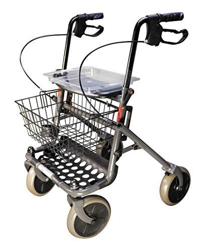 FabaCare Rollator Actimo Basic mit Vollausstattung, Gehhilfe klappbar, Standardrollator, Gehwagen bis 130 kg