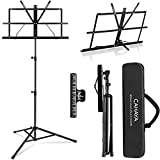 CAHAYA 2 in 1 Dual Use Folding Sheet Music Stand & Desktop Book Stand...