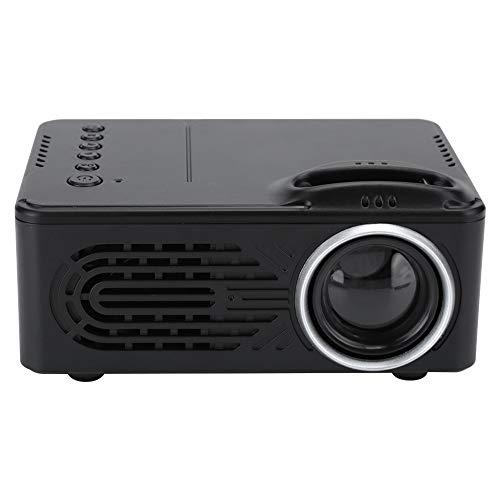 Mini Proyector LED | Proyector de Películas HD 1080P | Reproductor Multimedia Portátil Altavoz Incorporado Proyector de Cine en Casa Compatible con Teléfono/Computadora/Computadora Portátil(Negro)