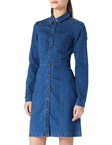 edc by ESPRIT Damen 021CC1E309 Kleid, 902/BLUE MEDIUM WASH, M