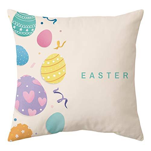 Sylar Fundas de Almohada, diseño de Conejo de Pascua con Dibujos Animados de Huevo para Celebrar la celebración de los niños, copiar Las Orejas