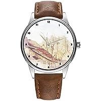 Reloj de Pulsera para Hombre de Cuarzo marrón Cortex, para Hombres, Famoso Reloj de Pulsera de Cuarzo para Regalar a los Reyes Magos de Botticelli