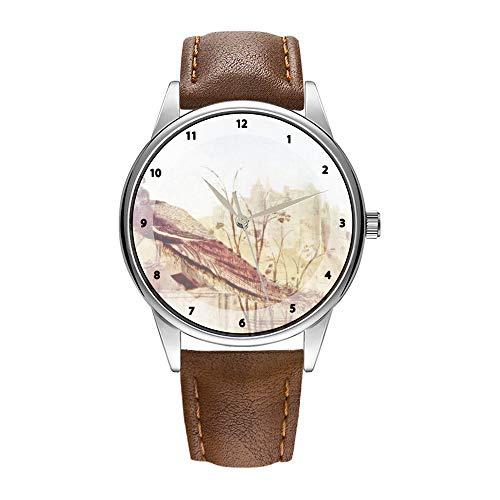 Herrenuhr braune Cortex Quarz-Uhr für Männer berühmte Armbanduhr Quarzuhr für Werbegeschenke Anbetung der Könige von Botticelli Armbanduhren