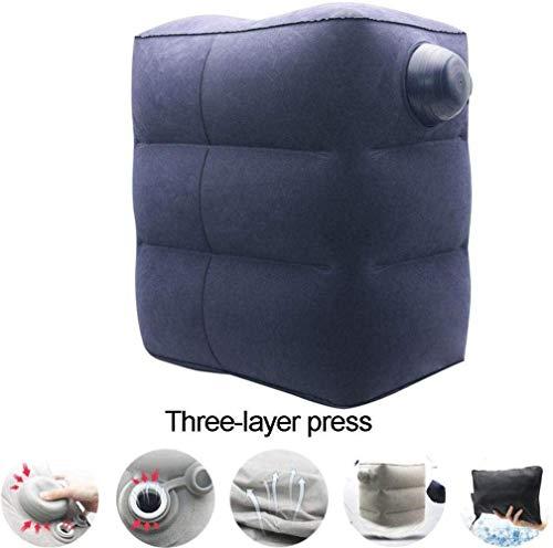 Reisebett aufblasbares Bett Pvc / Flocked Inflatable-Fuss-Auflage, Fahrt / Outdoor-Auflage-Fuss-Auflage, Auto-Kissen Reisekissen, Travel Assistants 5-12 (Farbe: Blau, Größe: 3) (Farbe: Blau, Größe: 3)