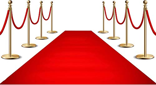 Red Carpet Runner for Party, Hollywood Red Carpet Roll Out for Special Event, Glamorous Movie Theme Party Decorations, 70GSM Red Runway Rug for Wedding, Red Aisle Runner for Prom, 3x50ft
