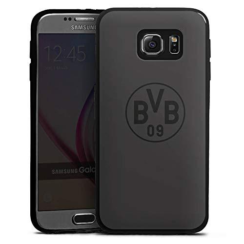 DeinDesign Slim Case Silikon Hülle Ultra Dünn Schutzhülle kompatibel mit Samsung Galaxy S6 Borussia Dortmund BVB Logo Grau
