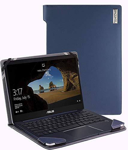 Broonel - Serie de perfiles - Estuche para De Cuero Azul Compatible con La ASUS VivoBook S14 S430FA