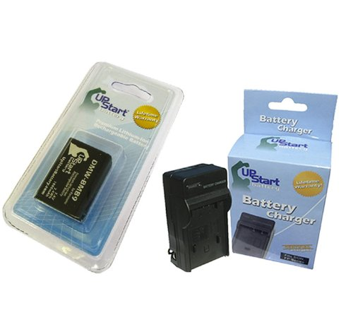 Replacement for Panasonic Lumix DMC-FZ70 Battery and Charger - Compatible with Panasonic DMW-BMB9 Digital Camera Batteries and Chargers (1000mAh 7.4V Lithium-Ion)