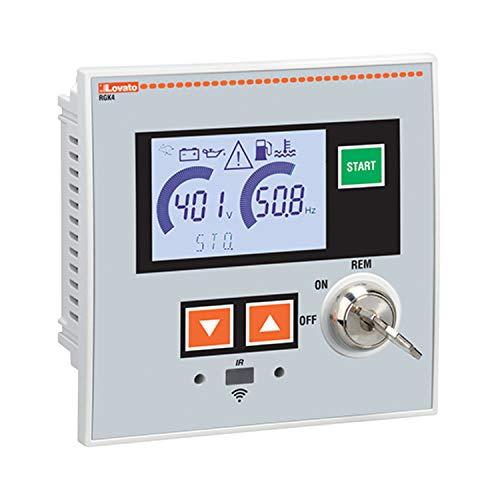 Controlador para grupos electrógenos autónomos, 12/24 VDC, 11 x 7,2 x 15,3 centímetros, color blanco (Referencia: RGK420SA)
