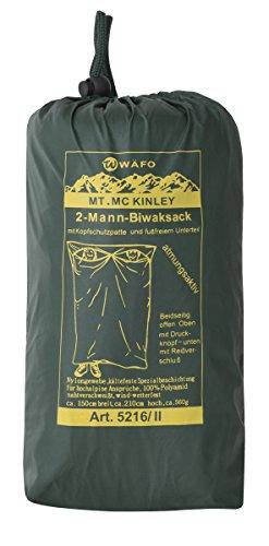 Wäfo Unisexe MC Kinley 2 Sac de Homme de Bivouac Taille Unique Vert Olive