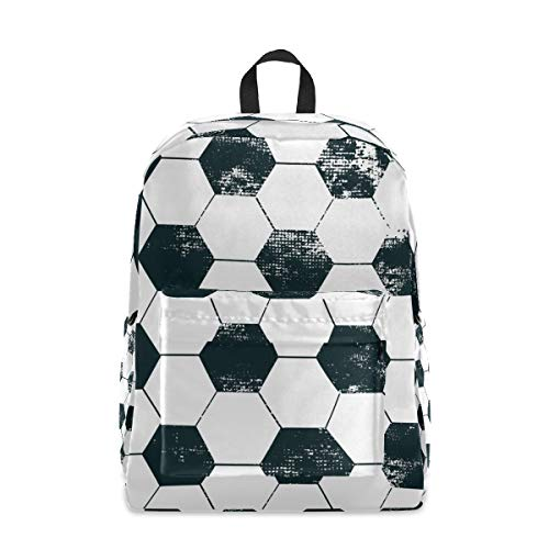 Lässiger Rucksack für Männer und Frauen – Fußball-Tapete, Anti-Diebstahl-Rucksack, Reisen, Schultasche, College, Tagesrucksack, leichte Tasche Pack