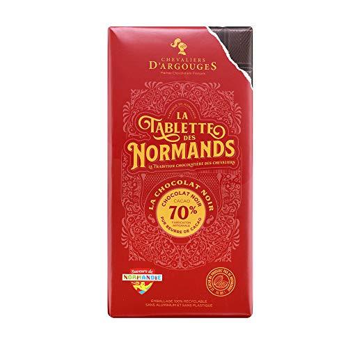 Chevaliers d'Argouges - Tablette chocolat noir 70% - La tablette des Normands chocolat noir 70% - 100g
